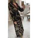Scarf Print Maxi Dress - Black Mix - Alternative 1