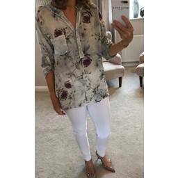 Lucy Cobb Georgia Floral Shirt - Grey