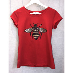 Lucy Cobb Betty Bee Tee - Red