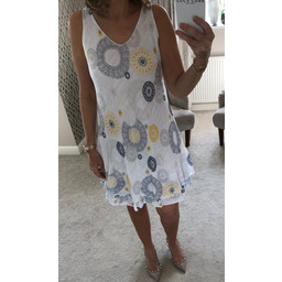 Lucy Cobb Billi Dress - White