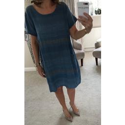 Lucy Cobb Perry Stripe Dress - Denim