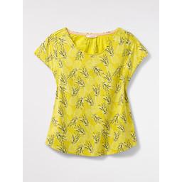 White Stuff Raindance Jersey Tee - Yellow