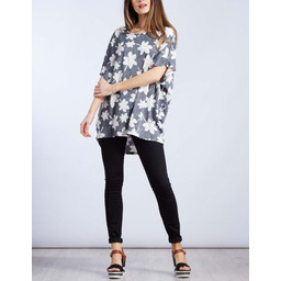 Lucy Cobb Lily Floral top - Black