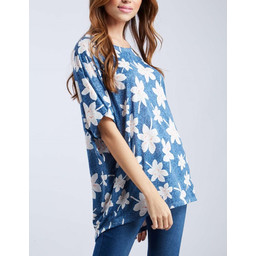 Lucy Cobb Lily Floral top - Blue