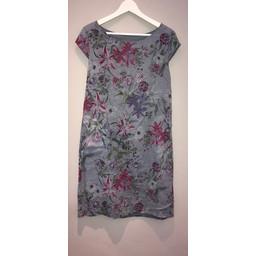Lucy Cobb Petal Floral Dress - Grey