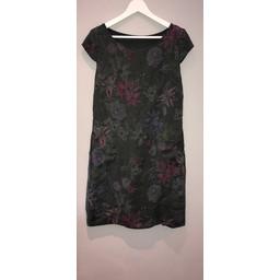 Lucy Cobb Petal Floral Dress - Khaki