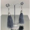 Tassel Earrings - Silver Grey