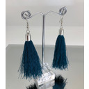 Tassel Earrings - Teal