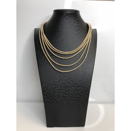 Lucy Cobb Short Mermaid Necklace in Gold