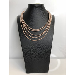 Lucy Cobb Short Mermaid Necklace in Rose Gold
