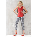Rose 09 Graphic Floral Print Trousers - Grey - Alternative 2