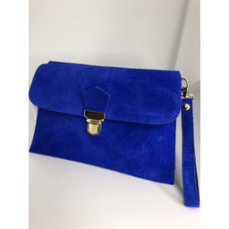 Lucy Cobb Double Suede Clutch in Royal