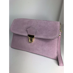 Lucy Cobb Double Suede Clutch in Pink
