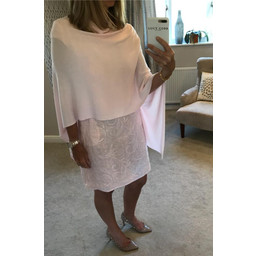 Deck  Raven Poncho in Dusky Pink