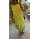 Tara Sleeveless Panel Dress - Yellow
