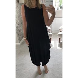 Lucy Cobb Tara Sleeveless Panel Dress - Black