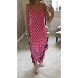 Lucy Cobb Molly Handkerchief Dress - Fuchsia