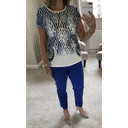Feather Printed T Shirt - Blue - Alternative 3