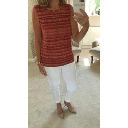 White Stuff Susannah Linen Jersey Shirt - Burgundy