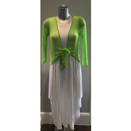 Lucy Cobb Shrug  in Lime Green