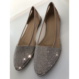 Lucy Cobb Sparkle Toe Pumps in Apricot