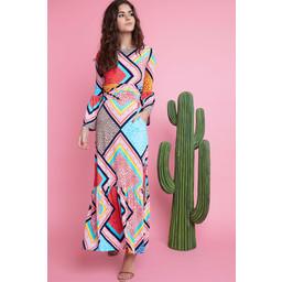 Onjenu Yana Maxi Dress - Formentera Turquoise