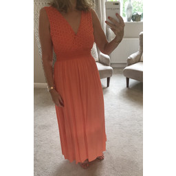 Lucy Cobb Lace Detail Maxi - Orange