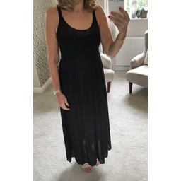 Lucy Cobb Crochet Maxi Dress - Black