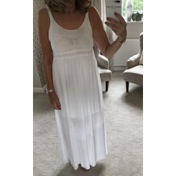Lucy Cobb Crochet Maxi Dress - White