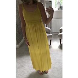 Lucy Cobb Crochet Maxi Dress - Yellow