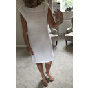 Hattie Linen Sequin Dress - White