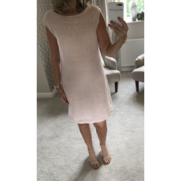 Lucy Cobb Hattie Linen Sequin Dress - Blush Pink