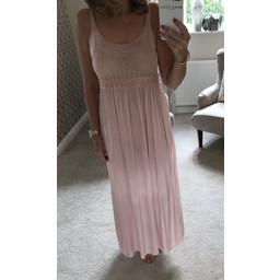 Lucy Cobb Crochet Maxi Dress - Blush Pink
