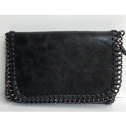 Lucy Cobb Chain Crossbody Bag  in Black