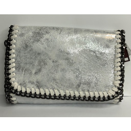 Lucy Cobb Chain Crossbody Bag  - Silver
