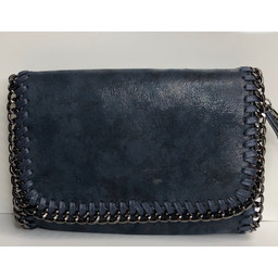Lucy Cobb Chain Crossbody Bag  - Navy