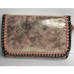 Lucy Cobb Chain Crossbody Bag  - Pink