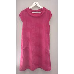 Lucy Cobb Feather Linen Dress  - Pink