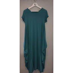 Lucy Cobb Tara Cap Sleeve Dress - Teal