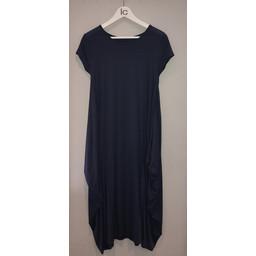 Lucy Cobb Tara Cap Sleeve Dress in Navy