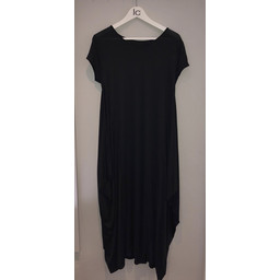 Lucy Cobb Tara Cap Sleeve Dress in Black