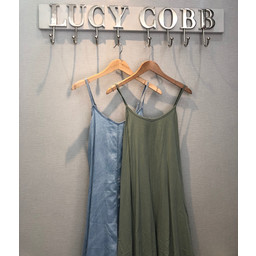 Lucy Cobb Denim Harem Jumpsuit - Khaki