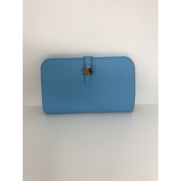 Lucy Cobb Travel Wallet with Purse in Pale Blue