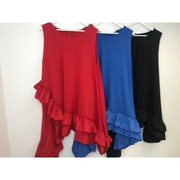 Lucy Cobb Elle Frill Dress - Blue