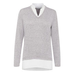 Fransa Pirexa Top - Grey