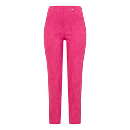 Robell Trousers Rose 09 Jacquard Trousers in Magenta