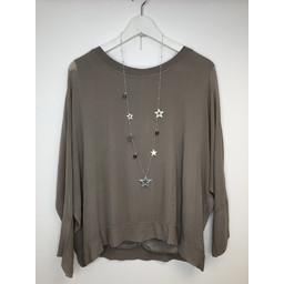 Lucy Cobb Georgette Top - Taupe