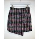 Multi Tweed Button Front Skirt  - Multicoloured - Alternative 1