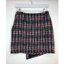 Multi Tweed Button Front Skirt  - Multicoloured - Alternative 2