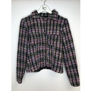 Multi Tweed Button Front Blazer  - Multicoloured - Alternative 1
